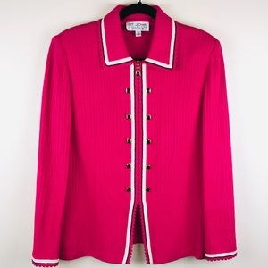 St. John Collection Zipped Cardigan